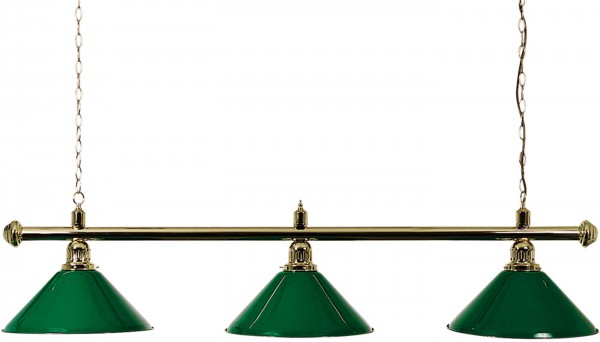BRASS LAMP WITH 3 GREEN SHADES 150CM