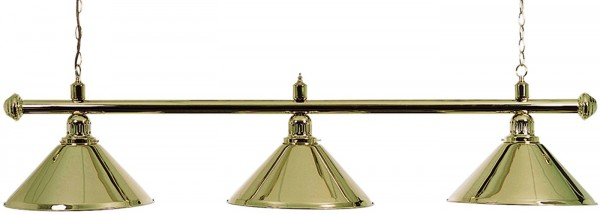 BRASS LAMP WITH 3 BRASS SHADES 150CM