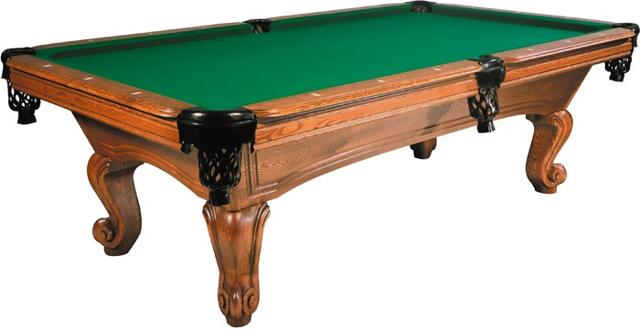 BUFFALO NAPOLEON POOL TABLE FT OAK - Pool table description