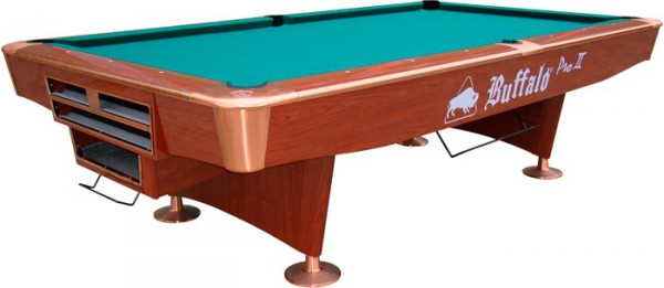 BUFFALO PRO-II POOL TABLE BROWN, DROP POCKET